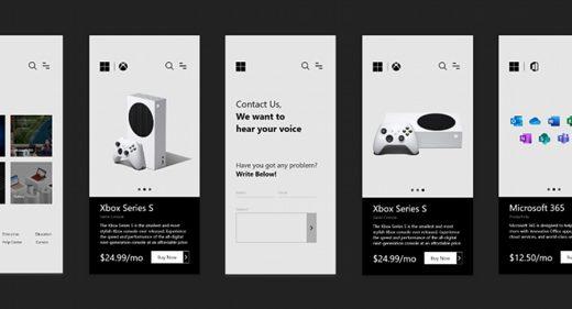 Microsoft mobile store XD concept