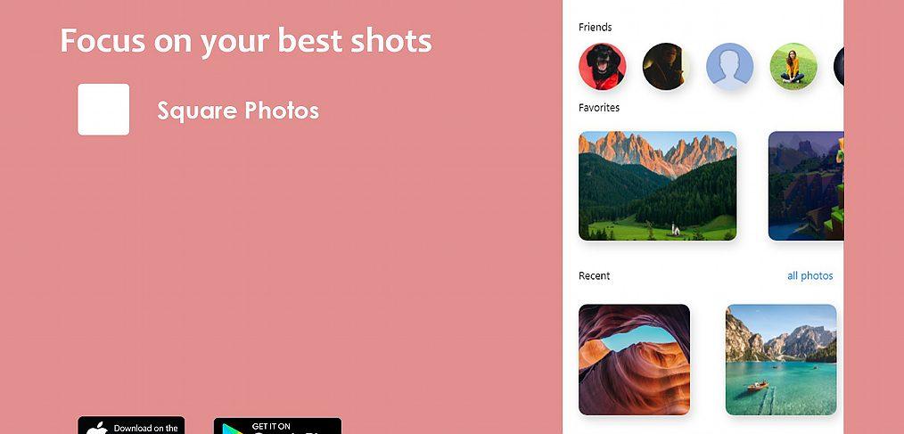 XD simple photos app template
