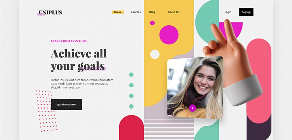 Uniplus - XD Learning platform template