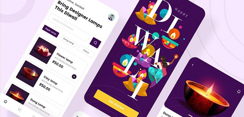 Diwali ecommerce XD app template