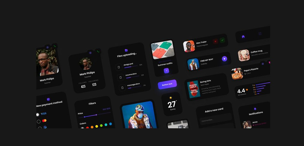 Free components XD UI kit