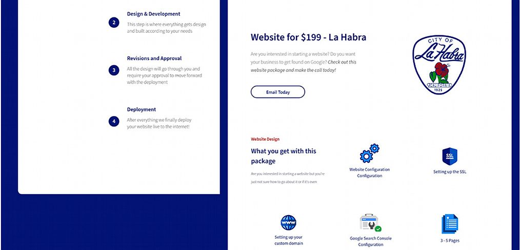 La habra XD website template