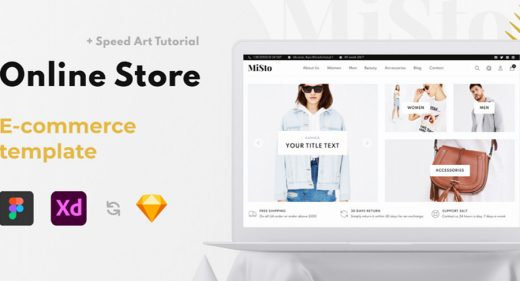 Misto XD ecommerce website template