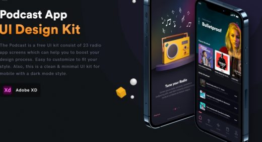 Free XD Podcast UI kit