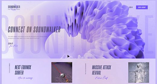Soundwalker free Adobe XD template