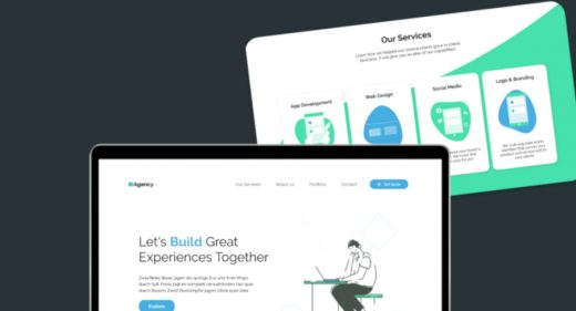 Agency XD website template